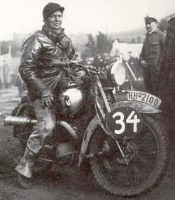 1934 DKW SB250 apperantly involved in some competition application, Rider unknown