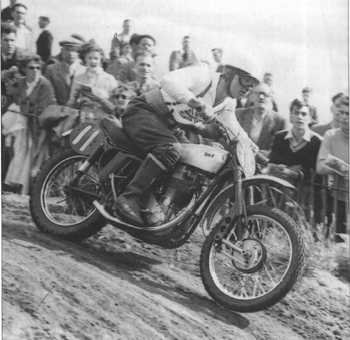 The Brit Geoff Ward riding BSA in 1956