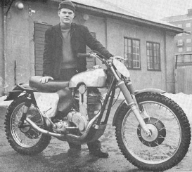 Bill 'Buffalo Bill' Nilsson with his AJS in 1957