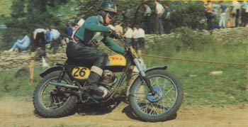 Arthur Lampkin on his BSA in 1966