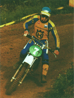H�kan 'Carla' Carlqvist during the 1979 season, he went on to win the 250cc championship on Husqvarna