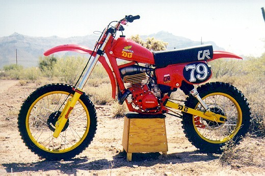 1979 Honda motocrosser with FOX air shocks
