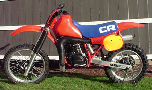 1983 Honda CR 480, The big red was on the move