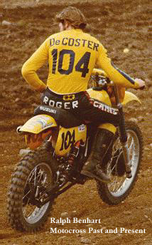 Roger De Coster on his Suzuki 1978