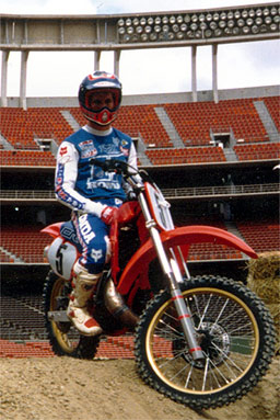 Rick Johnson about to start the 1986 season for Honda